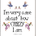 Cross stitch pattern Grimalkin Crossing Carrie Fisher
